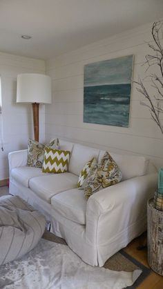 Coastal Farmhouse...I could do this on the back of my house! AND  Wahlah! Seaside Room!!