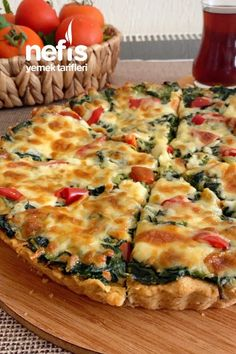 Turkish Recipes, Italian Recipes, Yummy Snacks, Yummy Food, Quiche, Cookery Books, Food Words, Mini Cheesecakes, Fish And Meat