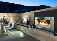 Escea EF5000 Outdoor Gas Fireplace for Stoke   est living Design Directory Outdoor Fireplace Plans, Outside Fireplace, Outdoor Fireplace Designs, Modern Fireplace, Fireplace Ideas, Fireplace Brick, Fireplace Bookshelves, Fireplace Inserts, Contemporary Outdoor Fireplaces