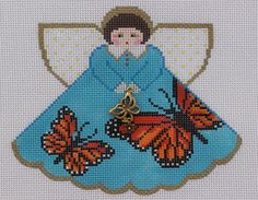 Painted Pony Designs Monarch Butterfly Angel 996GB HP Needlepoint Canvas #PaintedPony