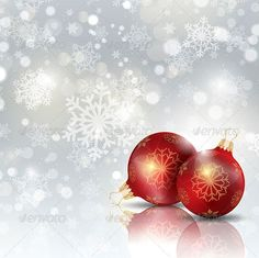 Christmas decorations background. Files included ai (version ten and CS5), eps (version ten) and high resolution JPEG