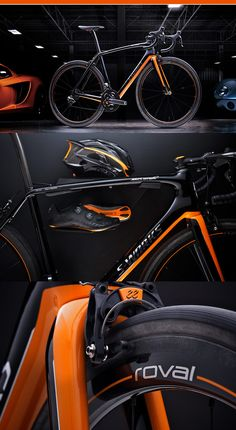 Mclaren & Specialized bikes teamed up to produce the very limited edition Tarmac S-Works made with McLaren F1 race technology carbon fiber.