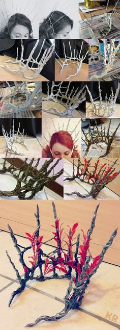 The Hobbit: Thranduils Crown and Coat WIP by kaetiegaard on deviantART