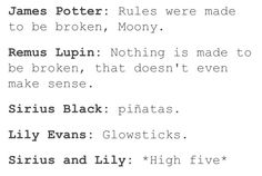 Haha this is great but would wizards have piñatas and glow sticks? Well I guess Lily is a muggleborn...