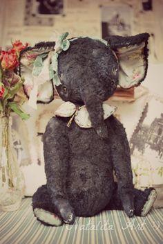 Monique OOAK Vintage Sweet Elephant by Natali by NataliSekreta, $155.00