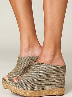 Open Toe Clogged Type Wedge. Love :)