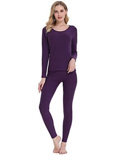 baedef5840 Amorbella Women s Thermal Underwear Base Layer Long Johns Set with Fleece  Lined for Winter  mirarenzi
