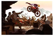 more bikes, but this one is just a fun piece from way back