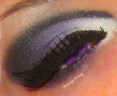 Have a blast with bright purple pigment. Offset this vivid makeup with a splash of white. Beauty Makeup, Hair Beauty, Makeup Style, Purple Smokey Eye, Dramatic Makeup, Crazy Makeup, Bright Purple, Colorful Makeup, Eye Make Up