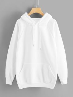 To find out about the Raglan Sleeve Kangaroo Pocket Hoodie at SHEIN, part of our latest Sweatshirts ready to shop online today! Teen Fashion Outfits, Casual Outfits, Cute Outfits, Emo Fashion, Summer Outfits, Rock Fashion, Emo Outfits, Lolita Fashion, Fast Fashion