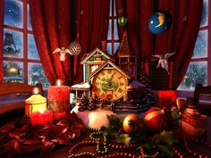 1000 images about christmas winter time on pinterest for Screensaver natale 3d