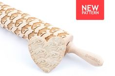 Alligator Engraved Rolling Pin - Embossed For Making Cookies by STODOLA on Gourmly