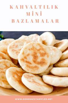 Kahvaltılık MİNİ Bazlamalar Turkish Delight, Turkish Recipes, Hamburger, Pancakes, Bread, Breakfast, Food, Morning Coffee, Brot