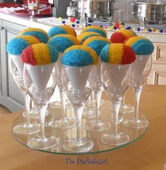Sno-Cone Cupcakes these would be sooo freaking cute at a carnival themed wedding or birthday party