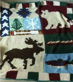 Cabin Afghan by thisthatoreverything on Etsy, $450.00