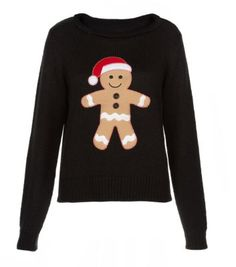 The gingerbread man jumper we love Cute Christmas Sweater, Christmas Knitting, Christmas Shirts, Winter Christmas, Cute Christmas Outfits, Holiday Sweaters, Christmas Clothes, Womens Xmas Jumpers, Jumpers For Women
