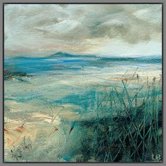 Buy Grey Framed Canvas Lesley Birch - Sea Grass, 40 x from our Pictures range at John Lewis & Partners. Landscape Prints, Abstract Landscape, Landscape Paintings, Abstract Art, Landscapes, Abstract Nature, Framing Canvas Art, Canvas Frame, Canvas Board