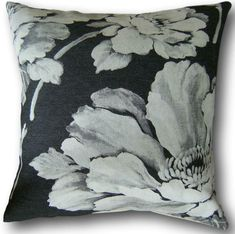 Handmade Cushion cover in Laura Ashley Herimone Charcoal Black Throw Pillows Cushion Covers Uk, Handmade Cushion Covers, Handmade Cushions, Floral Cushions, Black Cushions, Charcoal Color, Charcoal Black, Laura Ashley, Traditional House