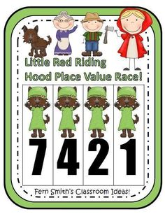Place Value Race Game Little Red Riding Hood Theme #TPT $Paid