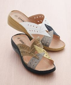 Ladies slip on mules with a cushioned leather lining that feels great, every step. Perfect spring and summer footwear in a distinctive leaf design. Mule Sandals, Shoes Sandals, Heels, Ladies Slips, Brown Sandals, Palm Beach Sandals, Summer Shoes, Casual Shoes, Fashion Shoes