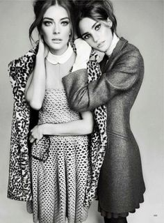 summer school: julia dunstall and daniela mirzac by txema yeste for us marie claire june 2012