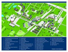 A map of our campus