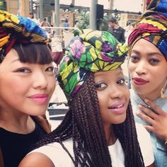 Happy Turbanista ❤️ in @turbanistaparis wraps~African Prints, African women dresses, African fashion styles, African clothing, Nigerian style, Ghanaian fashion ~DKK