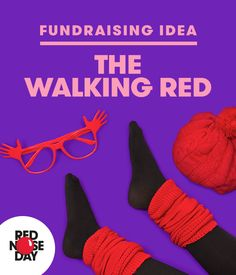 Why not dress in red for a day, a week, a month?! Join together with other red dressers and become an army of red zombies! Brains... Brains... Get more dress up ideas on the Red Nose Day website.