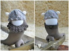 Have a Viking version of Easter with this fun egg cozy by @BaerbelBorn.