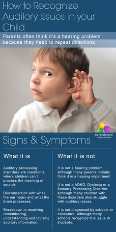 Auditory Processing: How to Recognize an Auditory Processing Disorder in my Child - Integrated Learning Strategies Autism Sensory, Sensory Activities, Therapy Activities, Sensory Diet, Sensory Toys, Auditory Processing Activities, Auditory Processing Disorder, Auditory Learning, Speech Language Pathology