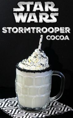 This Star Wars Storm Trooper White Chocolate Cocoa recipe is a nice treat for Star Wars fans of all ages!!