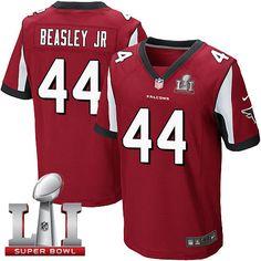 Nike Falcons #44 Vic Beasley Jr Red Team Color Super Bowl LI 51 Men's Stitched NFL Elite Jersey