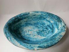 tengerkék mélytányér, ovális (Foenx) - Meska.hu Beach House Decor, Home Decor, Serving Bowls, Plates, Ceramics, Tableware, Diy, Homemade Home Decor, Mixing Bowls