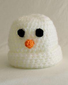 Free Crochet Pattern Baby Snowman Hat #29
