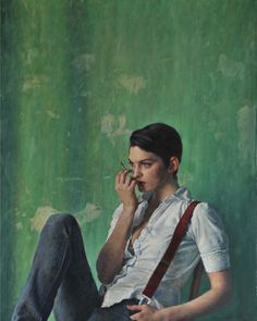 Alex Russell Flint (b 1974) is a British artist who produces beautifully crafted, soulful oil paintings.    A realist painter, ARF divides his time between London and Argenton-Chateau in France, where he lives and works in the rambling former school house (l'ancienne école) he acquired in 2010.