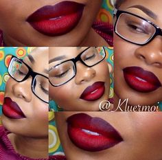 MAC RUBY WOO OMBRÉ Girls Makeup, Love Makeup, Makeup Tips, Makeup Looks, Makeup Ideas, Makeup Tutorials, Pinterest Makeup, Dark Skin Makeup, Beautiful Lips