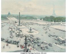 Jules René Hervé (French, 1887-1981) Place de la Concorde Oil on canvas 18 x 22 inches (45.7 x 55.9 cm) Signed lower right: Jules R. Hervé Signed and numbered on the reverse: Jules R. Hervé 46582
