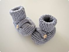 photo tricot modèle tricot chausson bébé