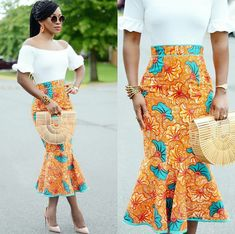 African Print Skirt Styles Inspirations To Try Out Before 2017 Ends African Fashion Designers, African Inspired Fashion, African Print Fashion, Africa Fashion, African Print Skirt, African Print Dresses, African Fashion Dresses, African Dress, African Attire