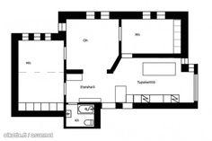rooms with a big kitchen h isolla avokeittiöllä Big Kitchen, Floor Plans, Diagram, Rooms, Quartos, Coins, Room, Floor Plan Drawing, House Floor Plans