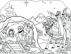 Printable Coloring Pages: Nativity coloring book pages Nativity Coloring Pages, Jesus Coloring Pages, Christmas Coloring Sheets, Printable Christmas Coloring Pages, Coloring Pages To Print, Coloring Book Pages, Best Color, To Color, Easter Coloring Sheets