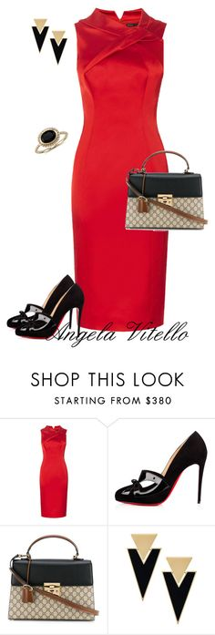 """Untitled #798"" by angela-vitello on Polyvore featuring Christian Louboutin, Gucci, Yves Saint Laurent and Blue Nile"