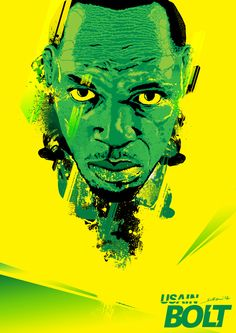 Usain Bolt by Kirk Tefora