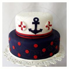 Birthday Cake Fondant Boy Nautical Theme 43 Ideas For 2019 Torta Baby Shower, Baby Shower Cupcakes For Boy, Cupcakes For Boys, Fondant Cakes, Cupcake Cakes, Sailor Cake, Cake Pops, Boat Cake, Nautical Cake