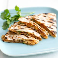 Grilled Barbeque Onion and Smoked Gouda Quesadillas.