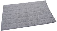 Castle Hill Bath Mat with Spray Latex Backing, Summer Tile Design, 17 by 24-Inch, White