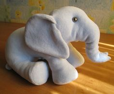 How to sew a stuffed toy elephant with his hands. Pattern elephant / Workshop