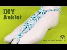 Summer Macramé Anklet - Barefoot Sandal Tutorial [DIY] - YouTube