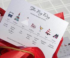 Wedding Timeline Card (www.holidayhelpings.com)