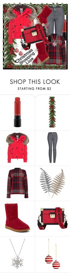 """""""Christmas Shopping Look"""" by helenaymangual ❤ liked on Polyvore featuring MAC Cosmetics, Gerson, Dsquared2, 2LUV, Warehouse, UGG, Tommy Hilfiger and Giani Bernini"""